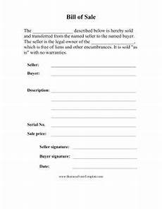 printable sle bill of sale cer form forms and
