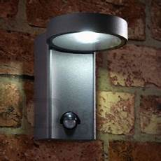 saxby 67696 oreti ip44 10w adjustable wall light with pir sensor cool white