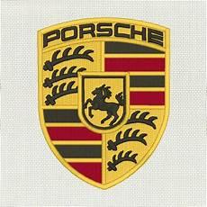 porsche logo car brand embroidery design