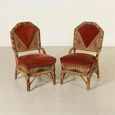 vimini rivestimento coppia di sedie in giunco e vimini imbottitura in espanso