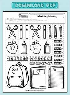 worksheets school supplies 18456 12 best images about church ideas on