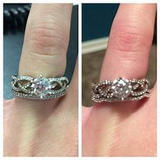 straight curved wedding band for braided ring