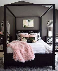 Bedroom Ideas Grey Pink And White by Four Poster Bed With White Pink Black And Grey For The