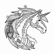 Ausmalbilder Zum Ausdrucken Unicorn Einhorn Mandala Als Pdf Zum Kostenlosen Ausdrucken 6