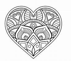 Kostenlose Ausmalbilder Mandala Mandala Herz Malvorlagen Mandalas Zum Ausdrucken
