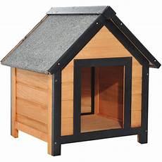 niche exterieure pour chat niche pour chien chat en bois sur pied chenil toit pente bitum 233 dim 61l x 56l x 66h cm