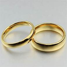 free custom engraving 4mm 6mm couple s simple plain gold
