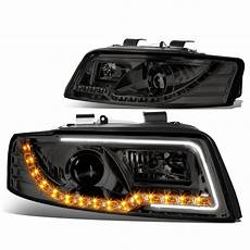 02 05 audi a4 04 05 audi s4 b6 led signal projector headlights smoked