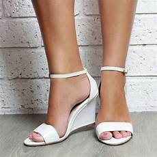 Wedding White Wedge Shoes white leather wedge shoes white wedding by