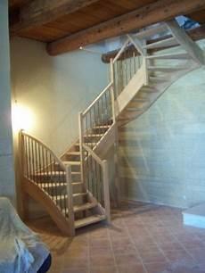 escalier 3 quart tournant en chene al 232 s gard bagnols sur