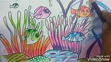 Cara Menggambar Pemandangan Dasar Laut