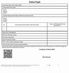 contoh faktur pajak dengan uang muka gawe cv