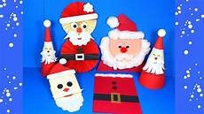 easy paper santa craft ideas crafts for