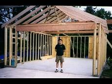 framing garage building your own 24 x24 garage and save money steps