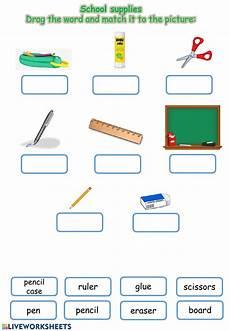 worksheets school supplies 18456 school supplies interactive worksheet