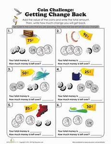 money worksheets change from 50p 2103 coin challenge what s the change worksheet education