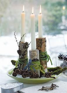 Kerzenständer Weihnachtlich Dekorieren - kerzenhalter aus birken 228 sten eingeschlagene oben