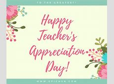 teacher appreciation daily themes