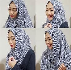 Tutorial Jilbab Pashmina Katun Voal Motif