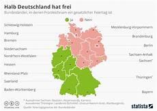 wo ist fronleichnam feiertag infografik halb deutschland hat statista