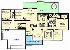 sprawling ranch house plans sprawling ranch home 35467gh 1st floor master suite