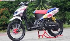 Mio Sporty Modif Trail by 5 Modifikasi Motor Mio Yang Paling Di Gandrumi Anak Muda
