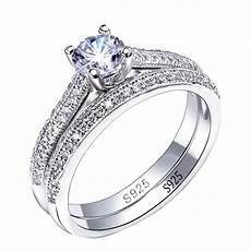 2pcs solid 925 sterling silver wedding rings engagement rings for pair of 925 silver