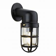 vintage industrial cage bulkhead wall light sconce with