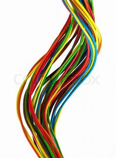 color wires isolated white stock image colourbox
