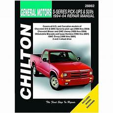 free service manuals online 2004 chevrolet s10 electronic throttle control 1994 2004 s series pick ups suvs chilton manual northern auto parts