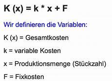 lineare kosten erl 246 s und gewinnfunktion www mein