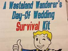 make this fallout themed wedding day survival kit for your gamer geek partner offbeat
