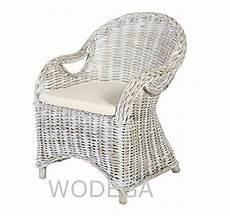 wodega fauteuil rotin naturel accoudoir chaise en rotin