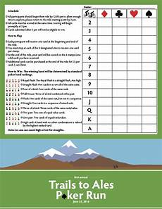 trails to ales poker run score card map on behance