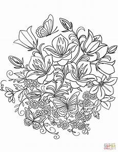 flowers and butterflies drawing at getdrawings free