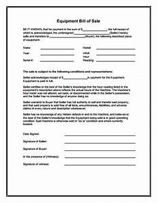 equipment bill of sale form download create edit fill and print wondershare pdfelement