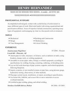 garlock sealing technologies journeyman pipefitter resume