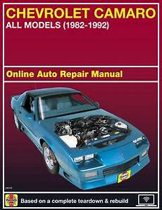 online auto repair manual 1997 chevrolet camaro regenerative braking 1989 chevrolet camaro haynes online repair manual select