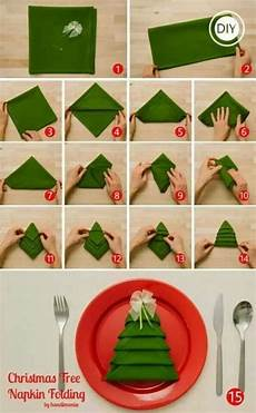 How To Fold Tree Napkins For The Dinner Table