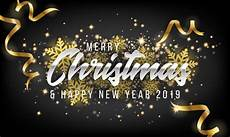 merry christmas and happy new year 2019 greeting card background premium vector