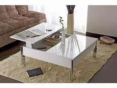 table basse largo coloris blanc meubles pas cher table