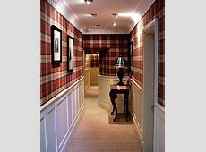 Traditional country house style hallway with tartan