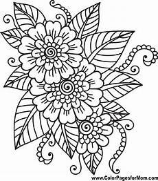 flower coloring page 41 mandalas colorear