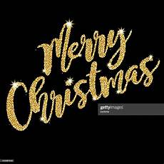 merry christmas script message in golden glitter high res vector graphic getty images
