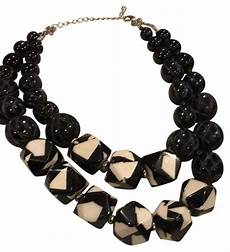 black white statement bloomingdale s black and white statement necklace tradesy