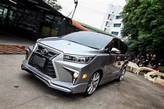this custom toyota innova is trying to pass of as a lexus mpv