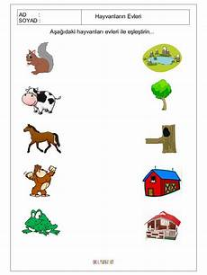 animals worksheets for nursery 13977 free printable matching animals to their home worksheet 2 crafts and worksheets for