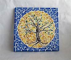 Petit Tableau En Mosaique Quot Arbre De Vie Quot Mosaiques Par