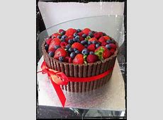 Triple chocolate fruit topped cake   Little cakes, Cake