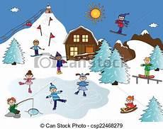 clipart inverno stock illustrations of winter landscape illustration of